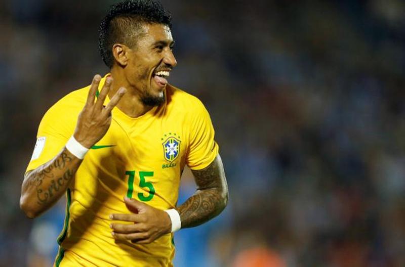 Paulinho hat-trick keeps Brazil on road to Russia