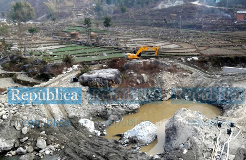 Bridge over Molung river in Okhaldhunga remains incomplete even after six years