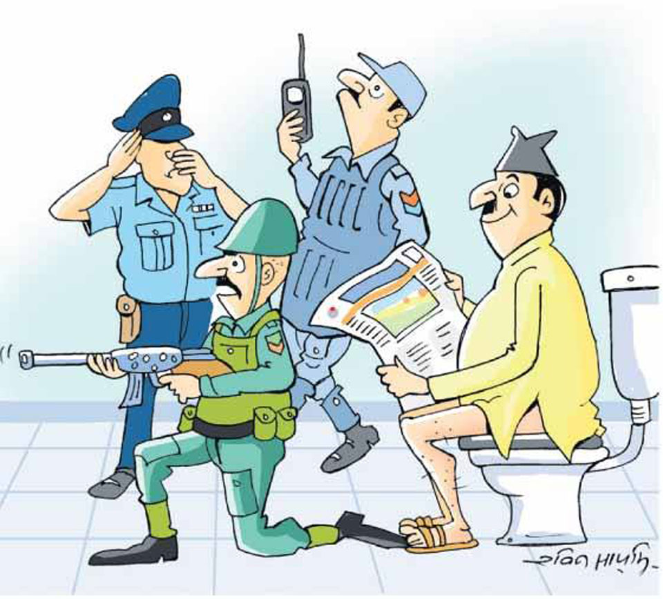 Three VVIPS have 675 security personnel, spend 18.7 million per month
