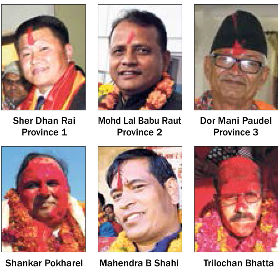 Parties pick chief ministers for six provinces