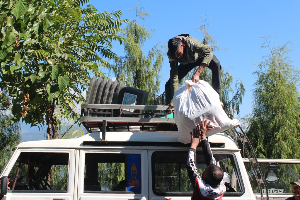 In pictures: Dispatching materials for Ilam election