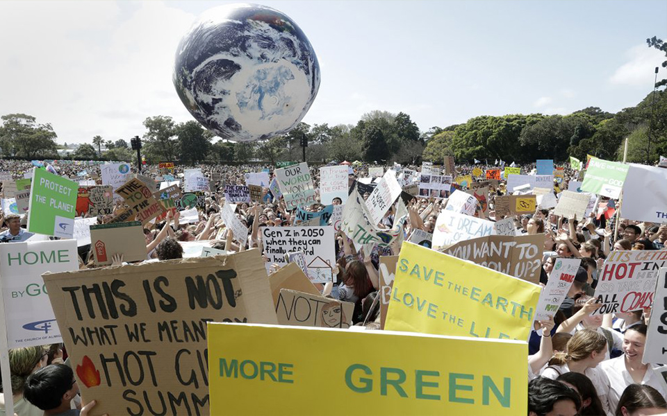 Tens of thousands join climate protests before UN summit