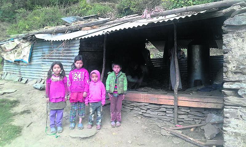 Snowfall shuts schools in Northern Gorkha