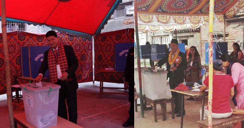 Mayor candidates in KTM vote