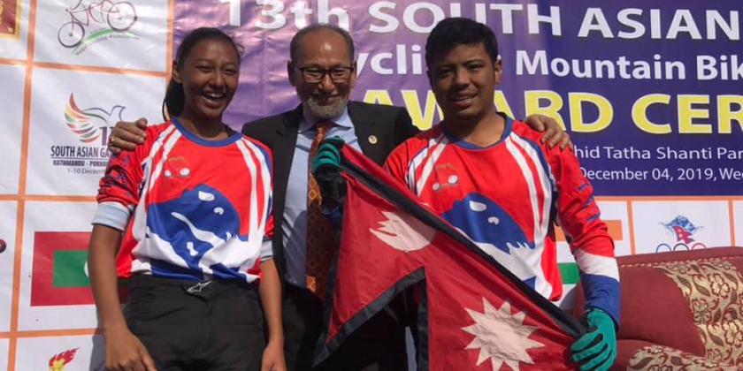 2 SAG golds for Nepal in cycling