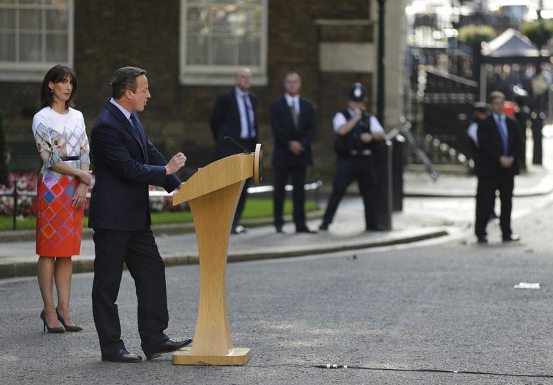 British PM David Cameron to resign on Wednesday