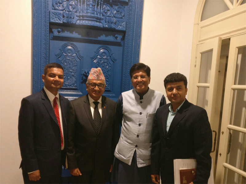 Nepali envoy  Upadhyay meets with Indian minister