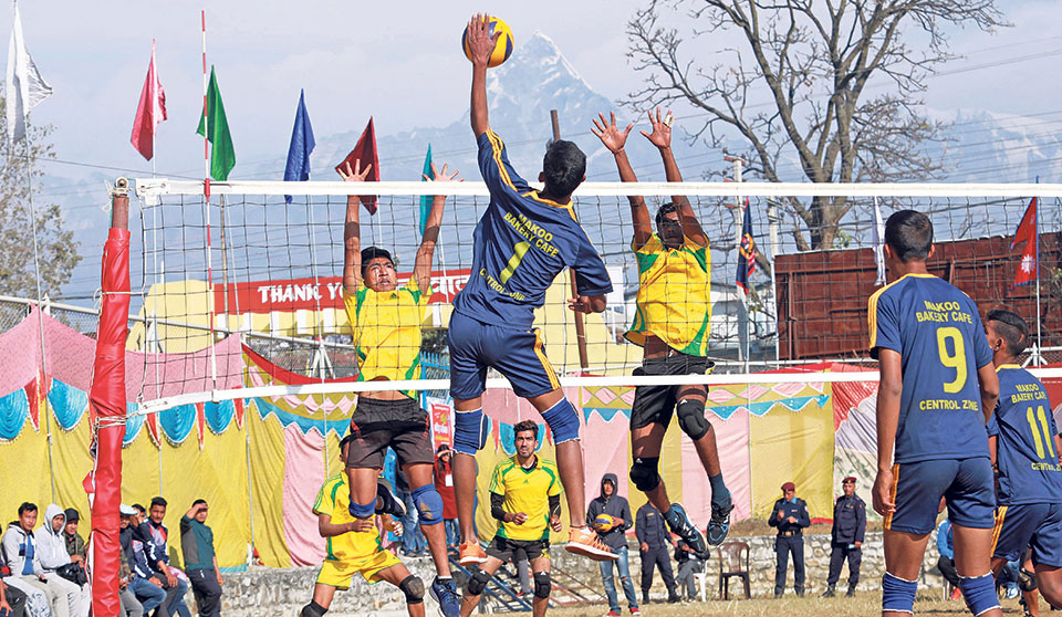 Departmental sides into volleyball semis