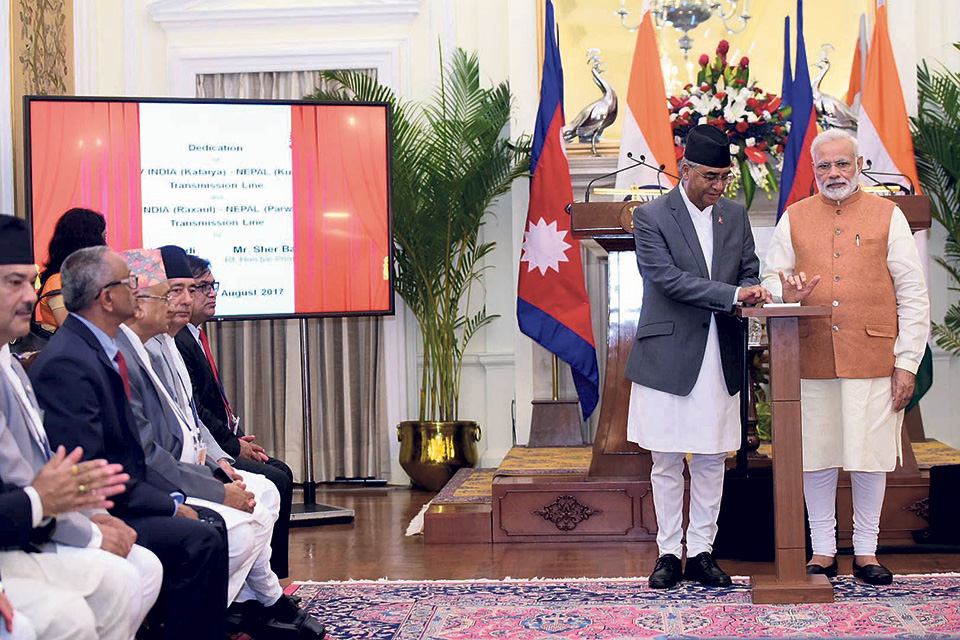 Deuba, Modi jointly inaugurate two cross-border transmission liness