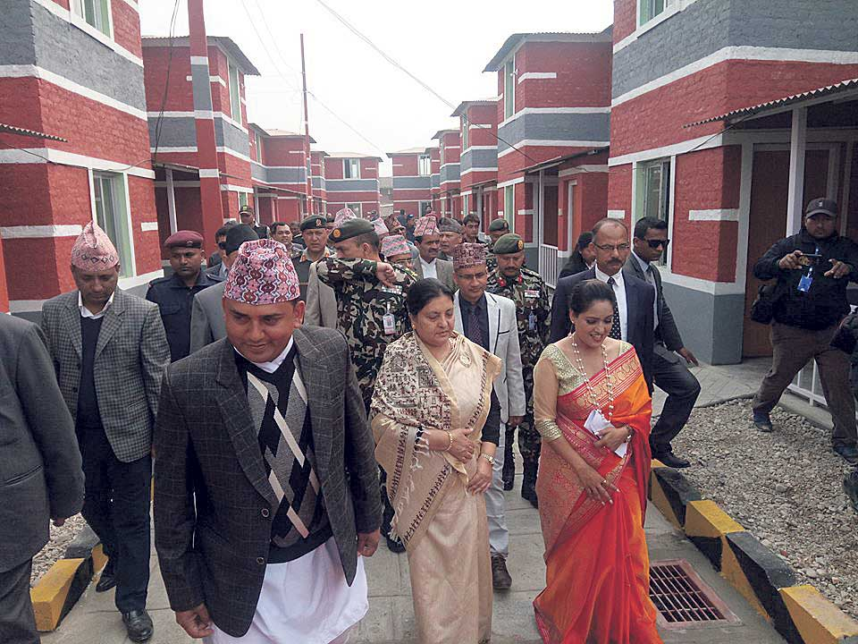 Homes built by Dhurmus-Suntali handed over to flood victims