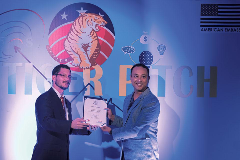 Dibesh Karmacharya wins Tiger Pitch