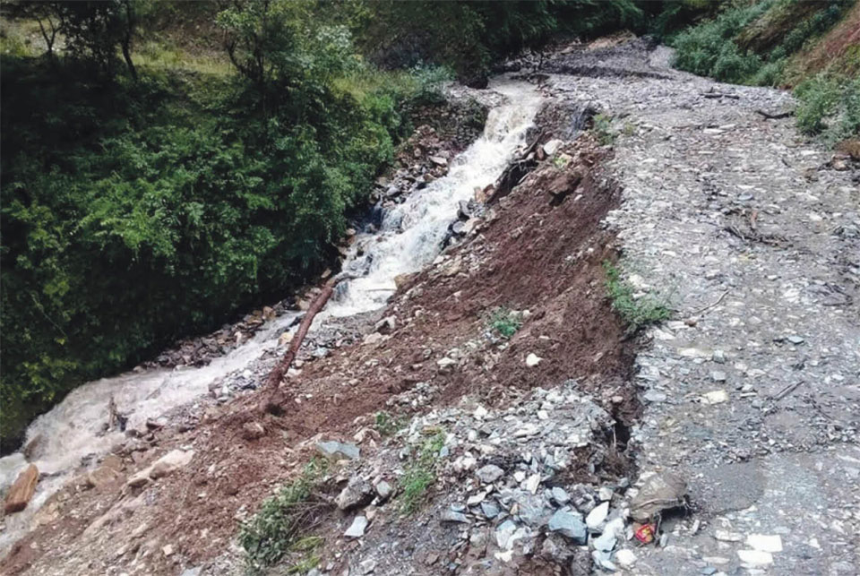 Most rural Rolpa roads dilapidated and inoperable, residents forced to walk