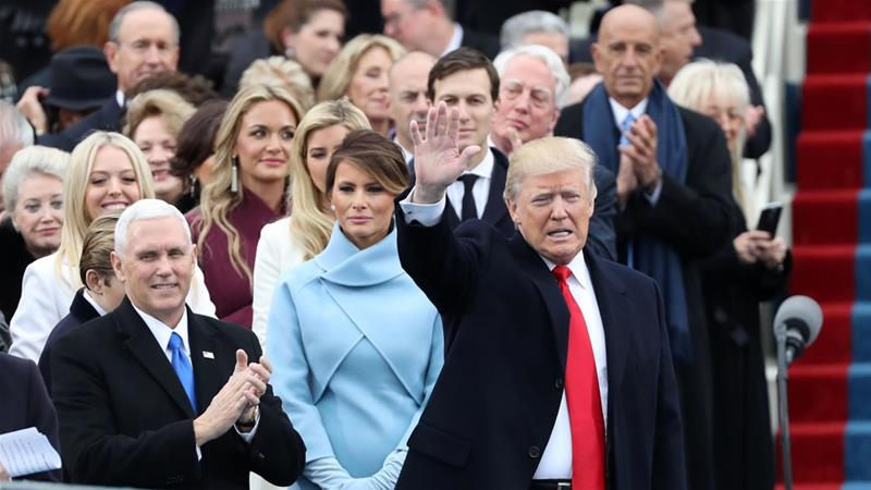 Donald Trump is sworn in as the 45th U.S. president
