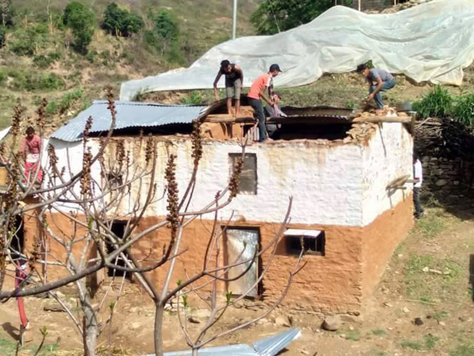 Police deployed across Doti to assess damage after heavy wind