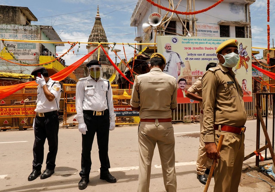 Wait of centuries is over, Modi says, as Hindu temple construction begins