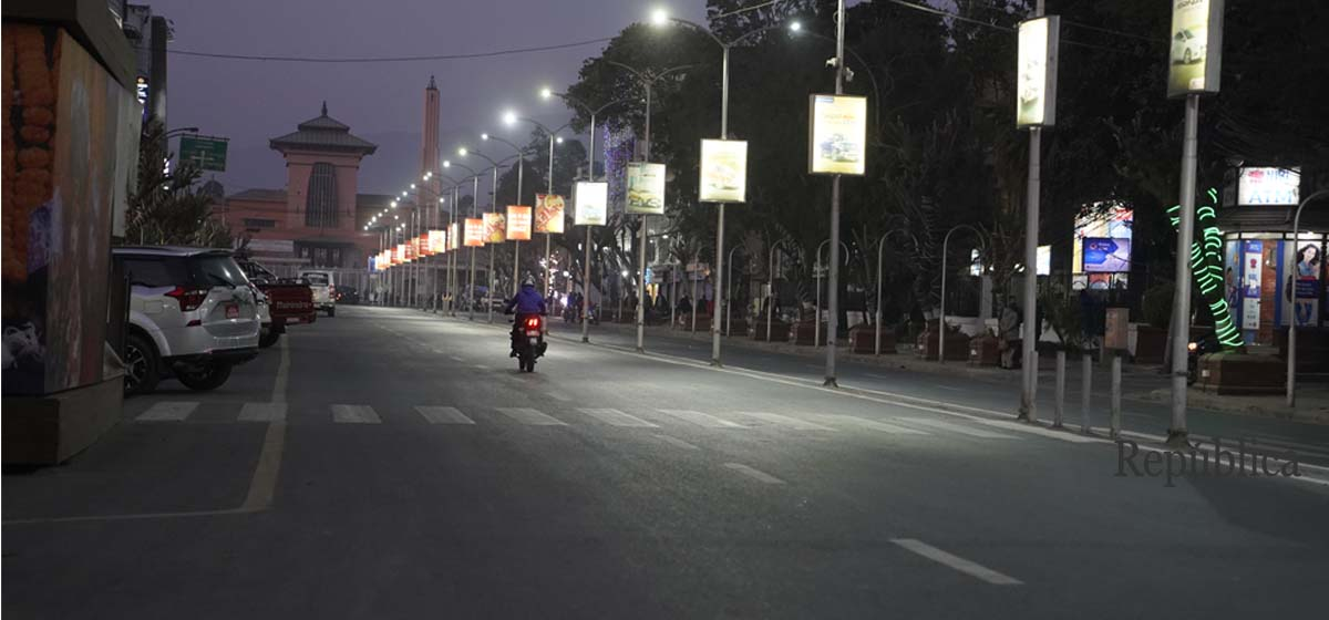 PHOTOS: Narayanhiti area being readied for Friday's mass gathering of NCP Oli-faction