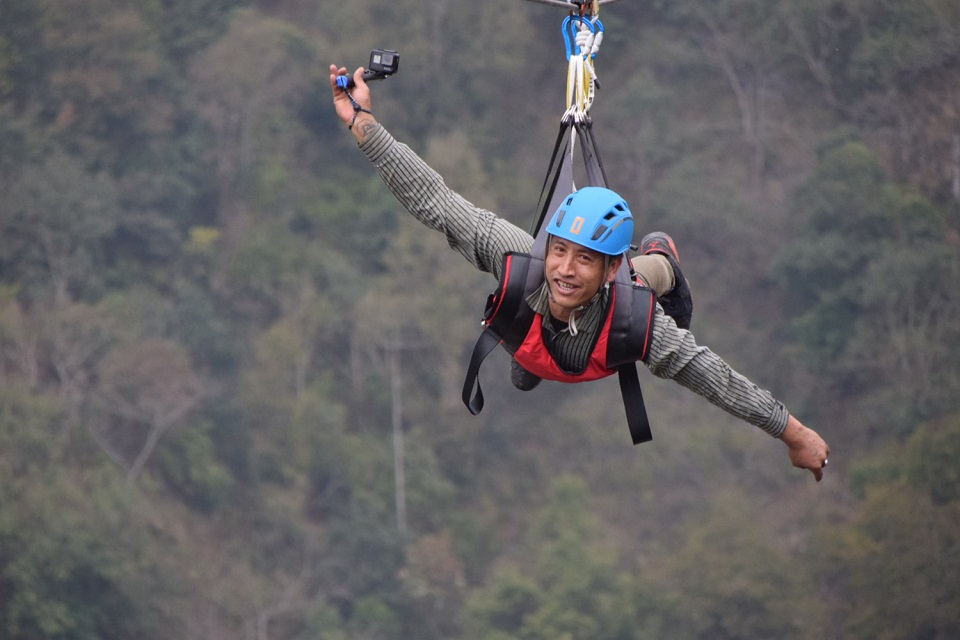 Dharan hosts first commercial zip flyer adventure in province 1