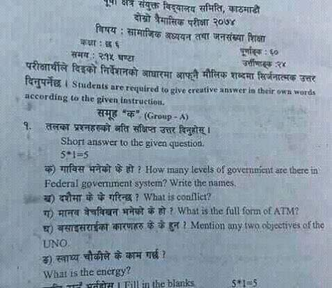 Utter negligence in question paper