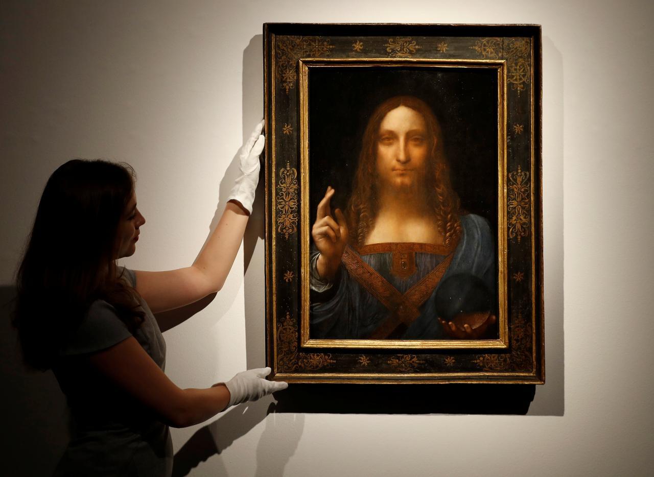 Da Vinci portrait of Christ sells for record $450.3 million in New York