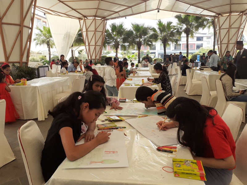 Art competition organized at Hotel Annapurna
