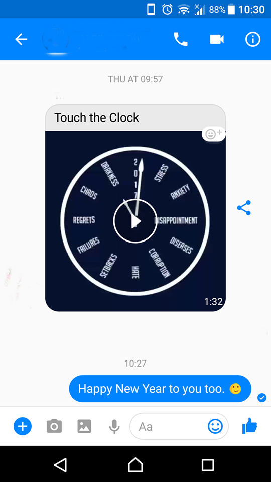 To touch or not to touch the clock