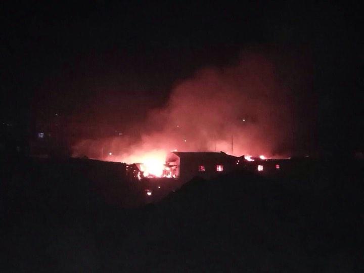 Massive blaze rages on in Balkhu's squatter settlement