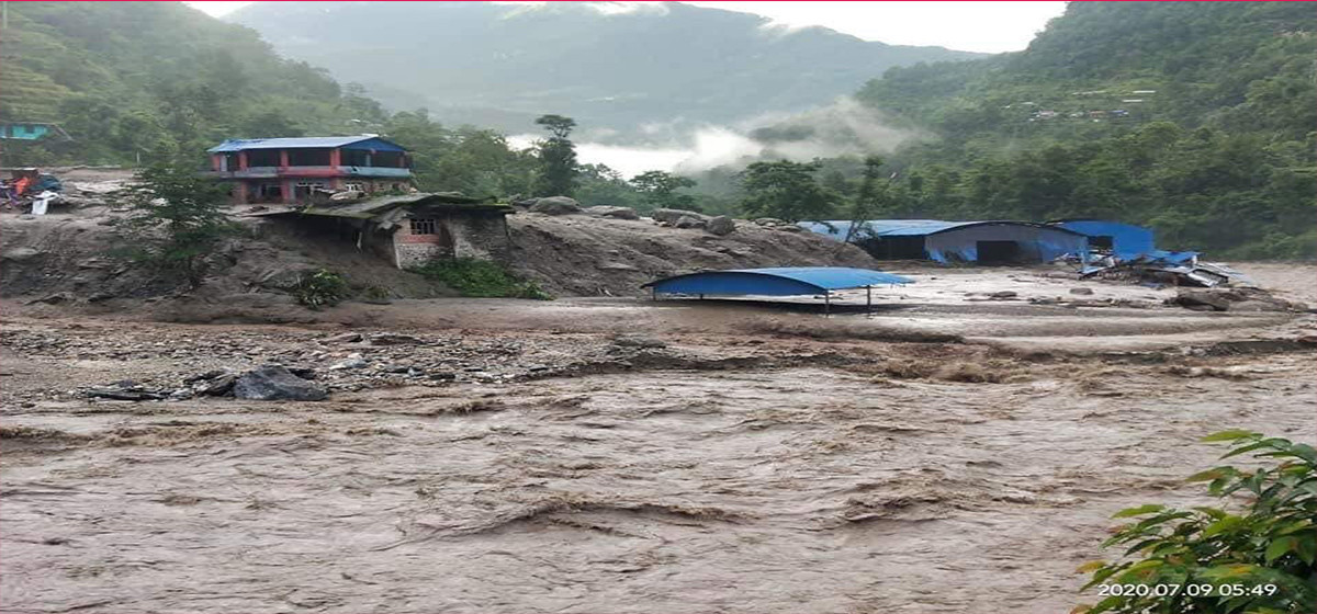 16 houses swept away by flood in Sindhupalchowk; two die, 23 missing