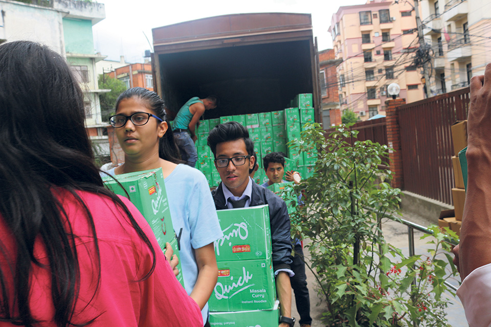 FNCCI hands over relief to 1,020 flood-affected households