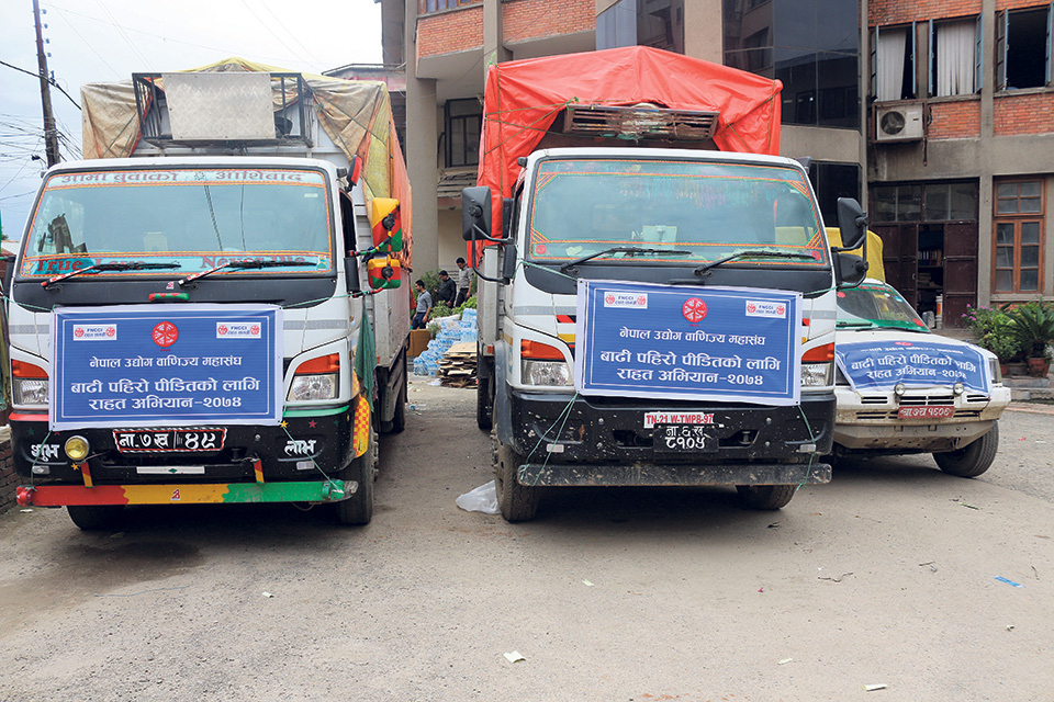 FNCCI sends relief to seven districts