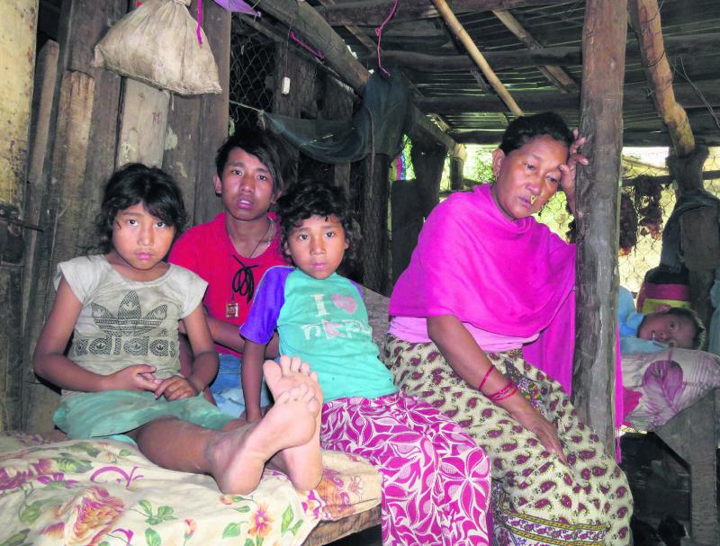 Flood sweeps away breadwinner of a family