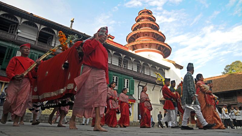 Fulpati, seventh day of Bada Dashain, observed
