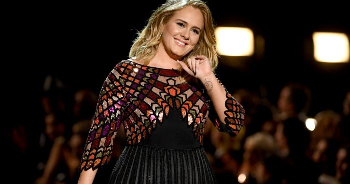 Adele shows off her slim figure at Drake's birthday party