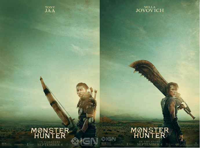 My City The First Posters Of Video Game Based Film Monster Hunter Are Out