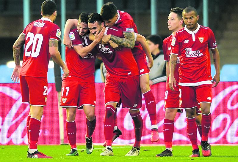 Three-star Iborra sends Sevilla to third spot