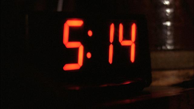 The clock was fourteen