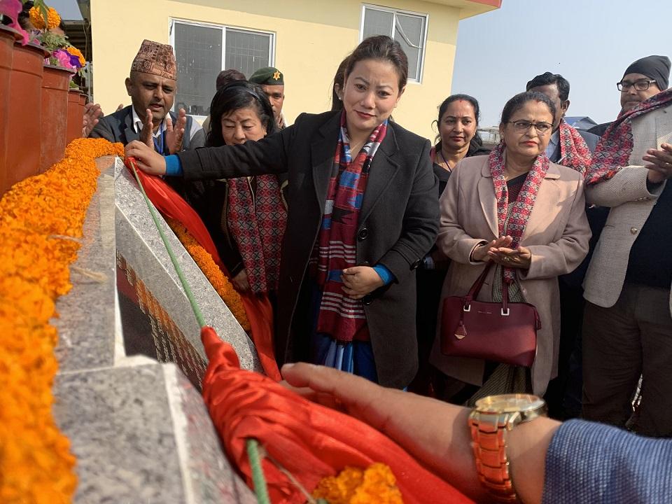 Minister Magar inaugurates faecal sludge treatment plants in Jhapa