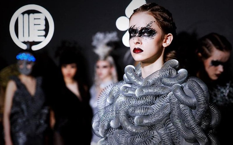 Lights! Models! Garbage! Taiwan designer turns waste into fashion