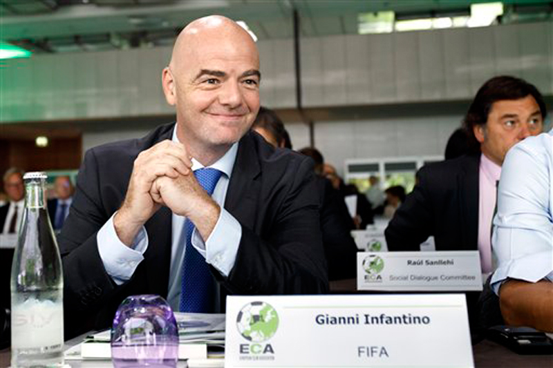 FIFA president Infantino open to 40-team World Cup, co-hosts