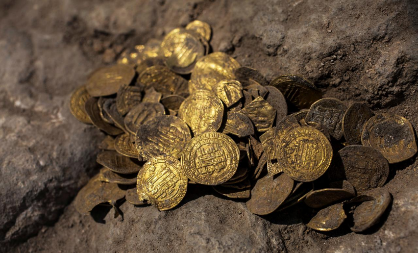 Trove of 1,000-year-old gold coins unearthed in Israel