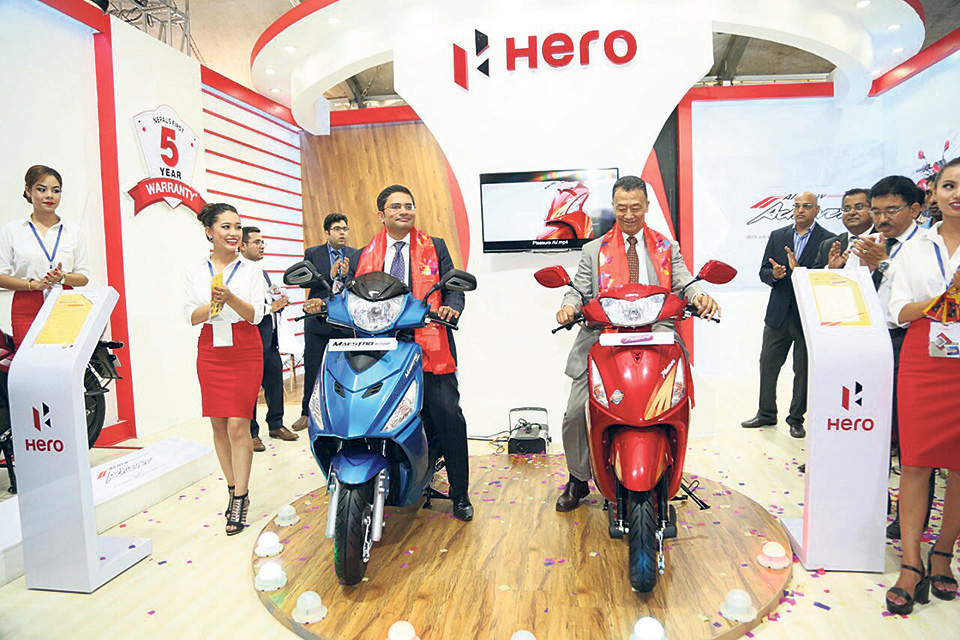 New range of Hero scooters launched in Nepal