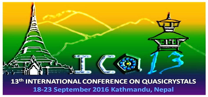 Int'l Conference on Quasicrystals  to be held in Nepal, Nobel Laureate to participate