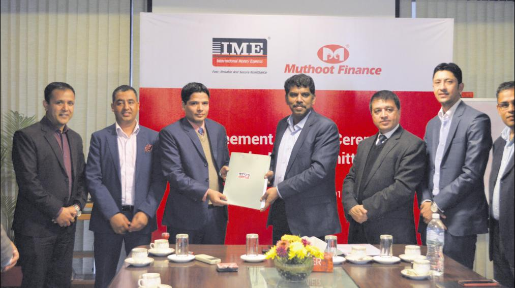 IME and Muthoot sign deal for Indo-Nepal remittance