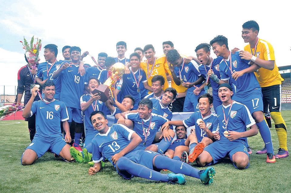 India lifts SAFF U-15 Championship