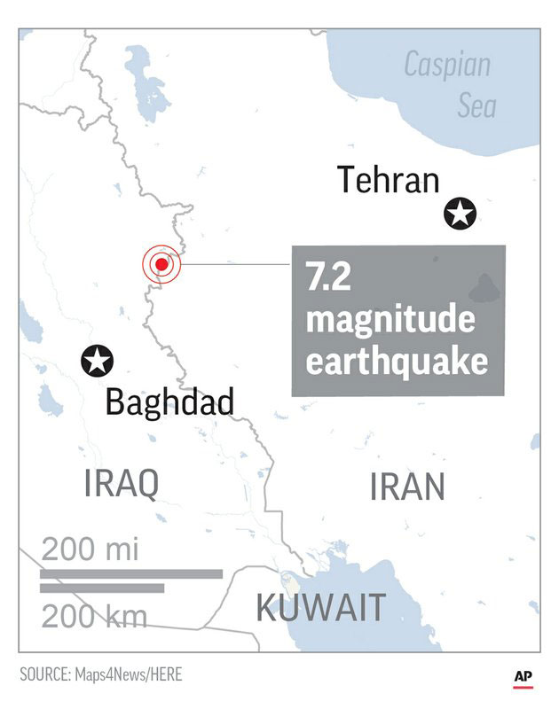 Powerful earthquake on Iran-Iraq border kills more than 140