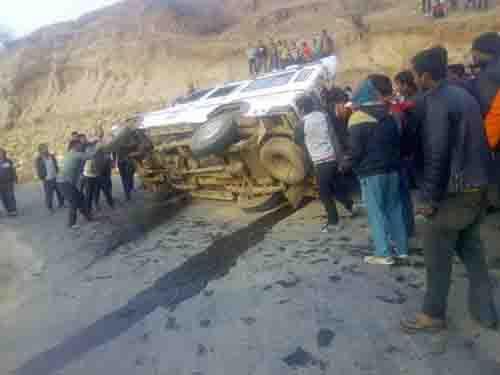 Six including minor girl injured in Rukum jeep mishap