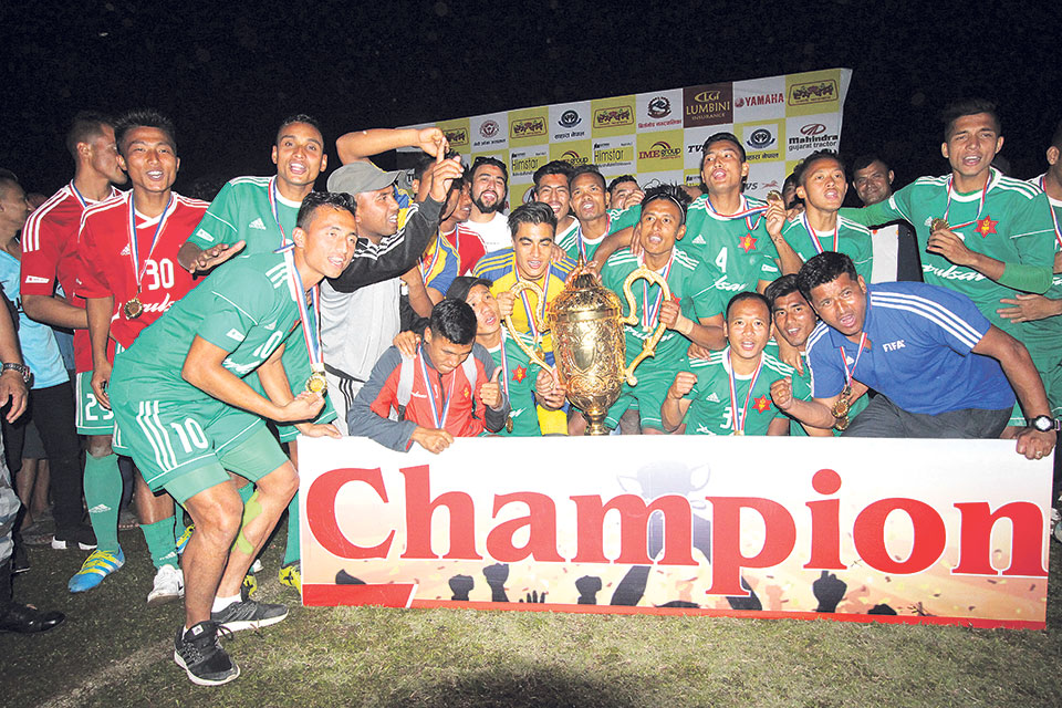 Tribhuvan Army clinches third Jhapa Gold Cup