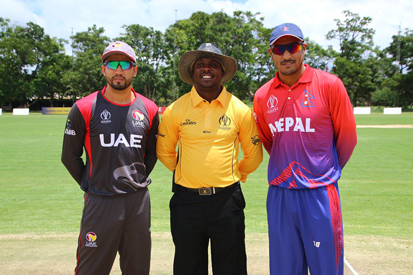 Warm-up match between Nepal and UAE begins (Photo feature)