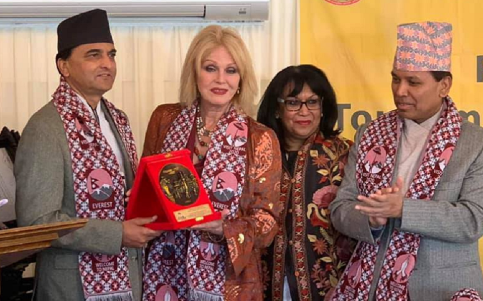 Joanna Lumley appointed as goodwill ambassador for Visit Nepal 2020