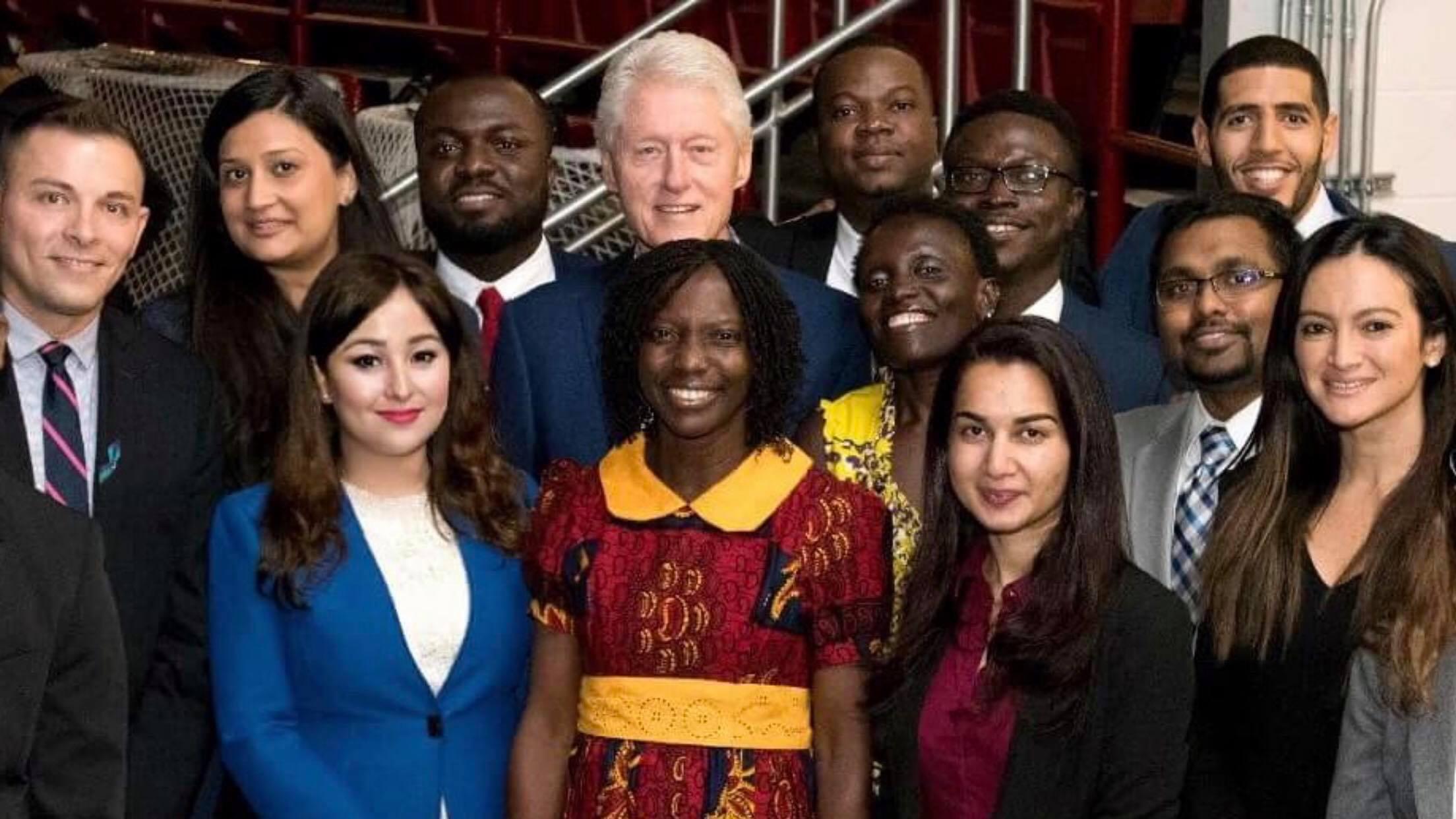 Kanchan Amatya wins Presidential Honor Roll Award from President Clinton