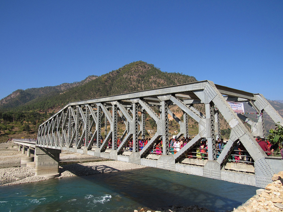 Bridge over Karnali River replaces risky ferry trips